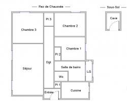 BREST RIVE GAUCHE : agréable appartement T3/4 de 79m² pour investisseur