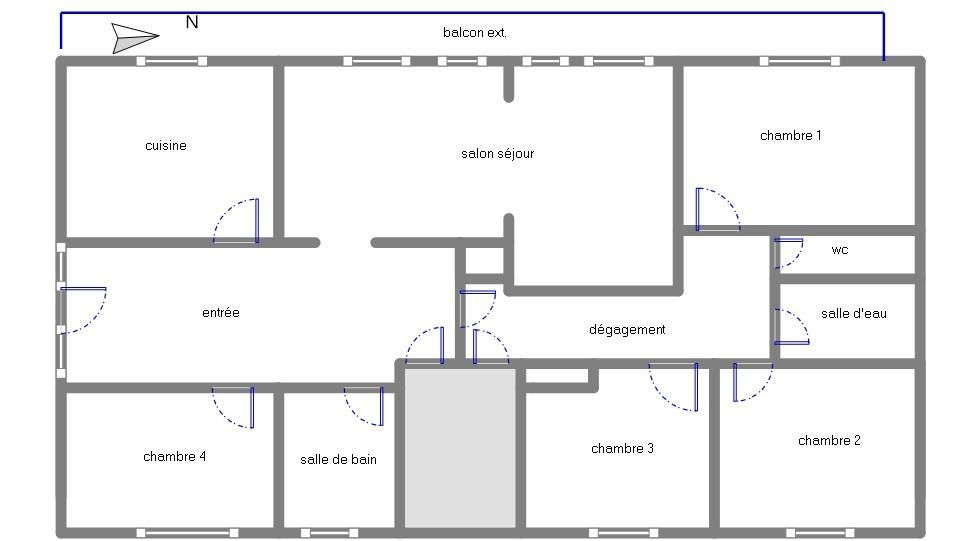 SAINT MARC : superbe appartement de 157m² avec 4 chambres, grand balcon et accès privatif