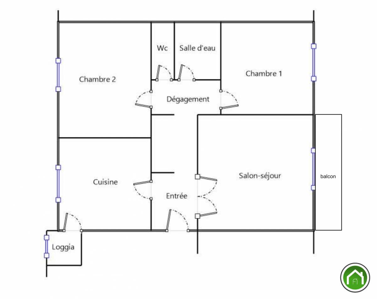 BREST : ravissant appartement deux chambres avec balcon sud et place de parking privative