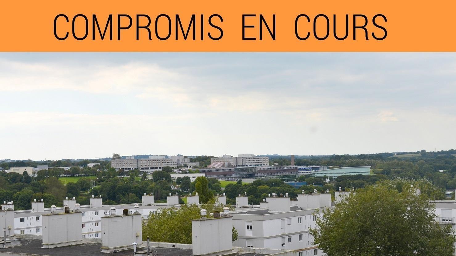 BREST: appartement t4 avec vue dégagée + balcon fermé