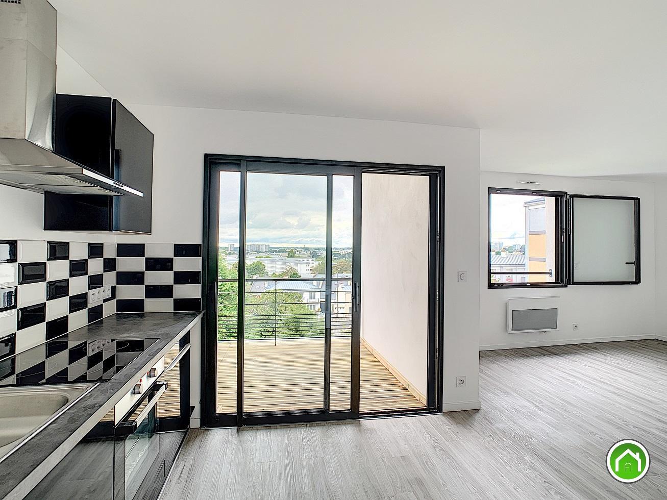 BREST : ravissant appartement T2 neuf avec grande terrasse et vue dégagée
